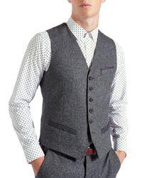 Ted Baker | Gray Illiwai Wool Waistcoat for Men | Lyst