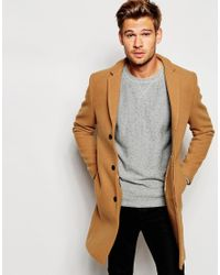 SELECTED | Natural Cashmere Overcoat for Men | Lyst