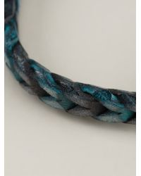 Tateossian - Blue Braided Bracelet for Men - Lyst