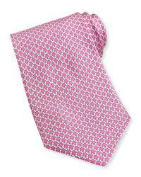 Ferragamo - Pink Butterfly-Print Silk Tie for Men - Lyst