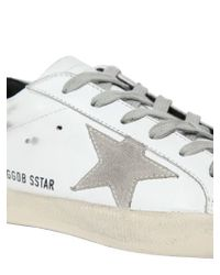 Golden Goose Deluxe Brand - White Superstar Leather Low-Top Sneakers - Lyst