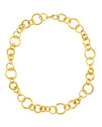 Gurhan - Metallic Hoopla Collection 24K Gold Chain Necklace - Lyst