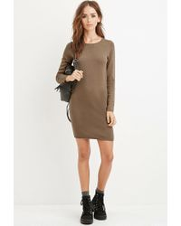 Forever 21 | Natural Knit Sweater Dress | Lyst