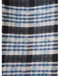 Pierre Louis Mascia - Blue Mixed Print Scarf for Men - Lyst