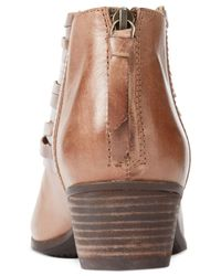 Clarks | Brown Collection Women's Spye Celeste Multi-band Booties | Lyst