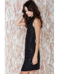 Nasty Gal | Black Vintage Night Owl Beaded Dress | Lyst