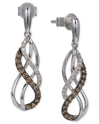 Le Vian | Metallic Diamond Swirl Earrings (1/3 Ct. T.w.) In 14k White Gold | Lyst