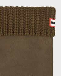 Hunter | Green Half Cardigan Stitch Boot Socks for Men | Lyst