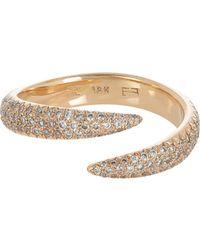Eva Fehren - Metallic Wrap Claw Ring - Lyst