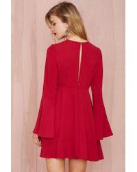 Nasty Gal - Red Bell Raiser Crepe Dress - Lyst