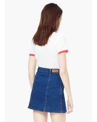 Mango | Red Cotton Linen-blend T-shirt | Lyst