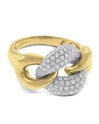 KC Designs - Metallic Diamond Pave Link Ring Size 75 - Lyst