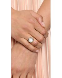 Marc By Marc Jacobs | Metallic Enamel Scalloped Disc Ring - Talc | Lyst