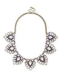 BaubleBar - Purple Crystal Feather Collar - Lyst