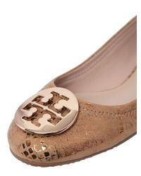 Tory Burch   Reva Metallic Patent Leather Ballerinas   Lyst