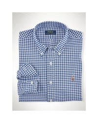 Polo Ralph Lauren - Blue Slim-fit Striped Oxford Shirt for Men - Lyst