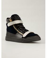 Giuseppe Zanotti   Black Swarovski Embellished Sneakers for Men   Lyst