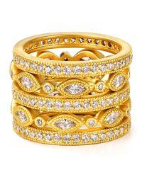 Freida Rothman   Metallic Marquise Eternity Rings, Set Of 5   Lyst