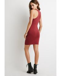 Forever 21 - Purple Racerback Bodycon Dress You've Been Added To The Waitlist - Lyst