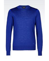Emporio Armani | Blue Jumper In Virgin Wool for Men | Lyst