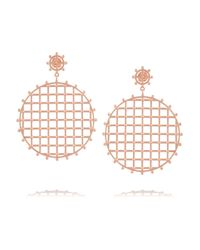 Arme De L'Amour | Pink Rose Gold-Plated Earrings | Lyst