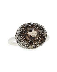 Alexis Bittar | Metallic Smoky Gold Marquise Pebble Ring with Smoky Quartz Diamonds | Lyst