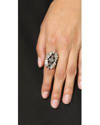 DANNIJO - Metallic Mavis Ring - Silver/crystal/jet - Lyst