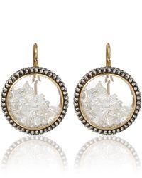 Moritz Glik | Metallic White Sapphireencased Diamonds Round Earrings | Lyst