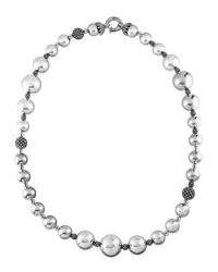 Lagos - Metallic Bold Caviar Wow Necklace - Lyst