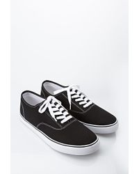 Forever 21 | Black Men Classic Canvas Sneakers for Men | Lyst