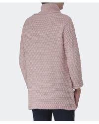 Barbour | Pink Barlett Wool Jumper | Lyst