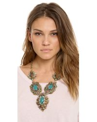 Deepa Gurnani - Blue Colorful Stone Necklace - Lyst