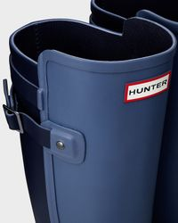 HUNTER | Blue Women's Original Refined Back Strap Wellington Boots | Lyst