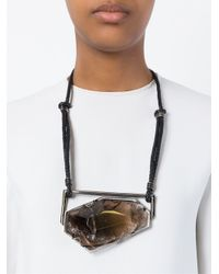 Lanvin | Black Quartz Pendant Necklace | Lyst