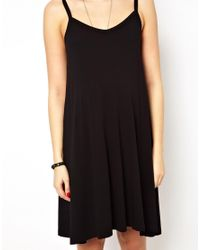 ASOS | Black Dipped Hem Cami Dress | Lyst