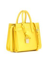 Saint Laurent | Yellow Sac De Jour Nano Leather Tote | Lyst