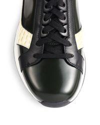 3.1 Phillip Lim - White Trance Croc-Print Sneakers - Lyst