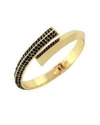 BCBGeneration | Black Goldtone Jet Stone Wrap Bracelet | Lyst