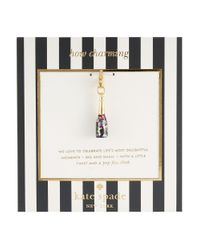 kate spade new york | Purple How Charming Champagne Bottle Charm | Lyst