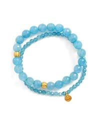 Satya Jewelry | Blue Beaded Stretch Bracelets - Angelite (set Of 2) | Lyst
