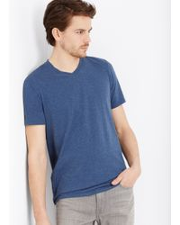 Vince - Blue Favorite Heathered Jersey V-neck Tee for Men - Lyst