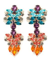Anton Heunis | Blue Crystal Embellished Earrings | Lyst