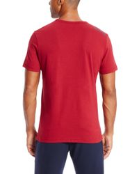 BOSS Green Red 'teevn' | Cotton V-neck T-shirt for men