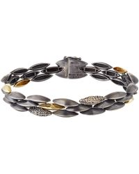 Alexis Bittar Fine | Metallic Silver And Gold Triple Row Marquis Bracelet | Lyst