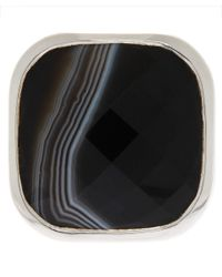 Monica Vinader | Metallic Silver Onyx Square Facet Ring | Lyst