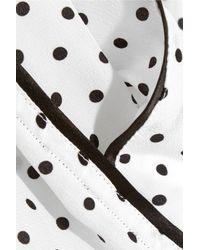Dolce & Gabbana - Black Polka-Dot Silk Crepe De Chine Pajama Shorts - Lyst