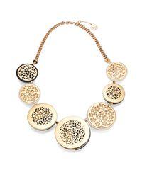 Trina Turk | Metallic Half Moon Statement Necklace | Lyst
