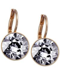 Swarovski | Blue Rose Gold-Tone Crystal Silver Night Drop Earrings | Lyst