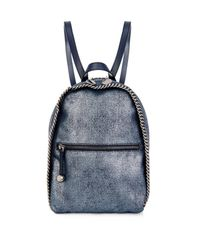 Stella McCartney | Blue 'Falabella' Backpack | Lyst