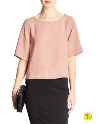 Banana Republic | Pink Factory Back-crossover Blouse | Lyst